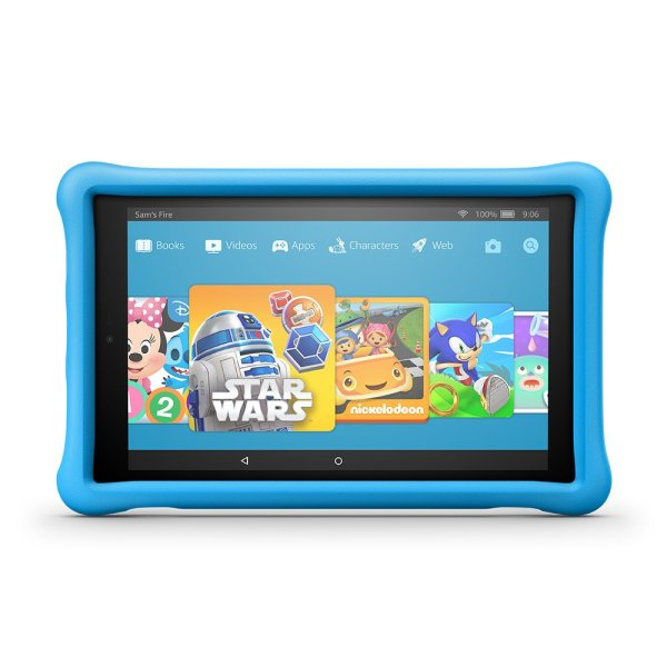 Fire HD 10 Kids Edition Tablet, 10.1″ 1080p Full HD Display, 32 GB, Blue Kid-Proof Case