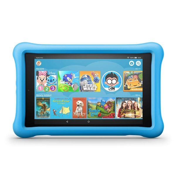 Fire HD 8 Kids Edition Tablet, 8″ HD Display, 32 GB, Blue Kid-Proof Case