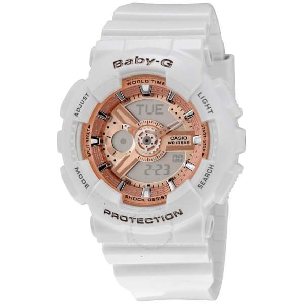 CASIO Baby G White Resin Ladies BA110-7A1