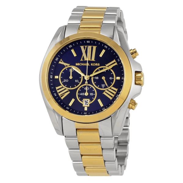 MICHAEL KORS Bradshaw Chronograph Blue Dial Two-tone Ladies Watch MK5976