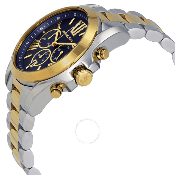 MICHAEL KORS Bradshaw Chronograph Blue Dial Two-tone Ladies Watch MK5976