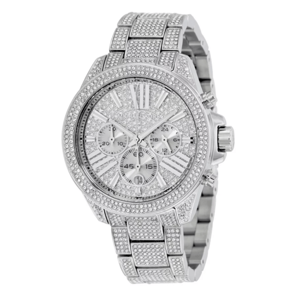 MICHAEL KORS Chronograph Crystal Pave Dial Ladies Watch MK6317