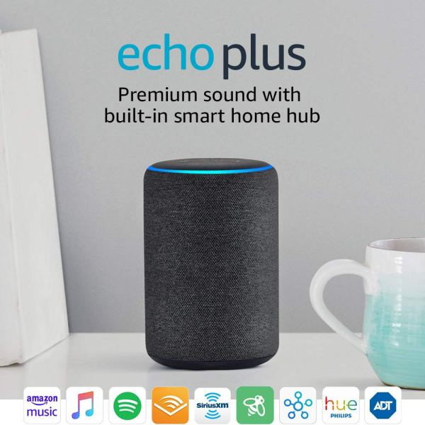 Echo Plus (2nd Gen) – Premium sound with built-in smart home hub