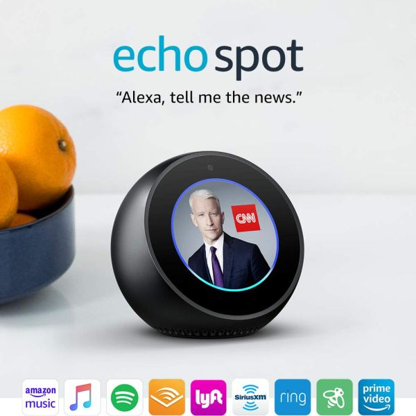 Echo Spot – Smart Alarm Clock with Alexa