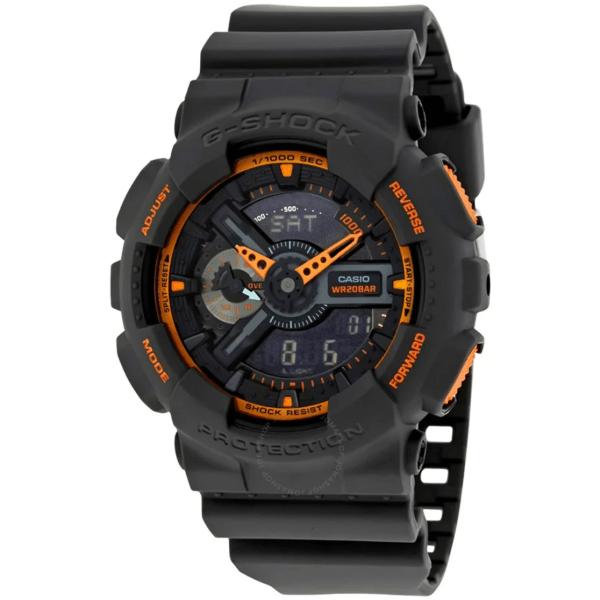 CASIO G-Shock Grey and Orange Resin GA110TS-1A4