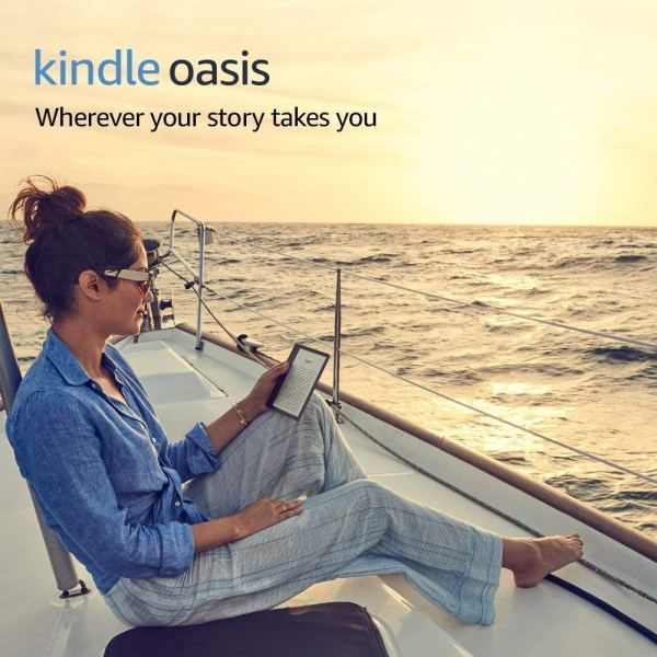 Kindle Oasis E-reader, 7″ High-Resolution Display (300 ppi), Waterproof, Built-In Audible