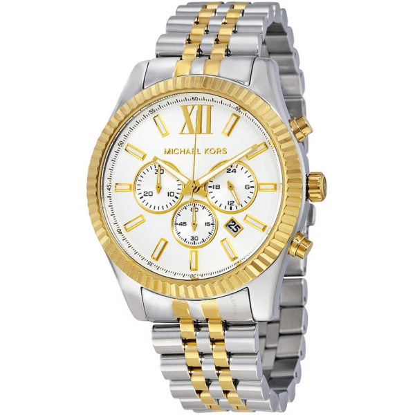 MICHAEL KORS Lexington Chronograph White Dial Men's Watch MK8344