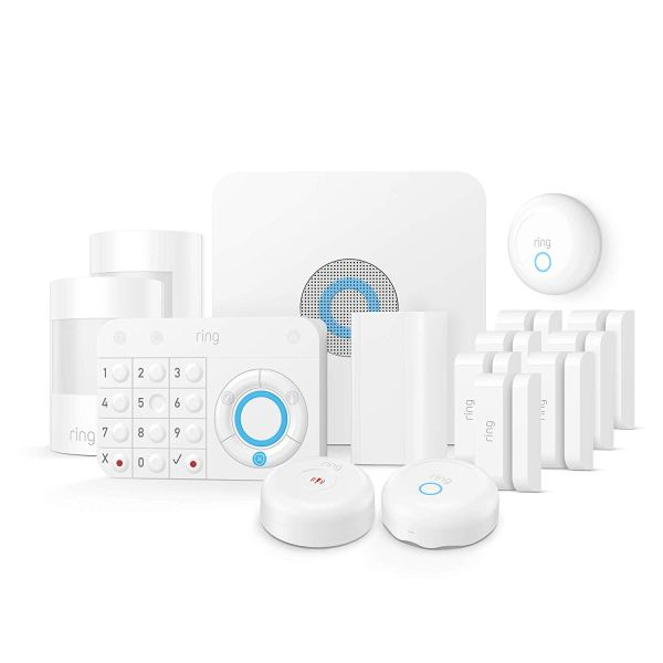Ring Alarm Enhanced Protection Kit – Home Security System with optional 24/7 Professional Monitoring – No long-term contracts – Works with Alexa