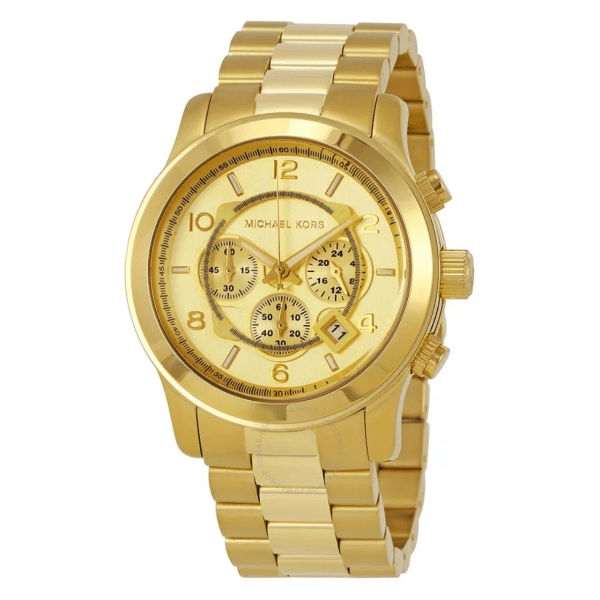 MICHAEL KORS Runway Chronograph Champagne Dial Men's Watch MK8077