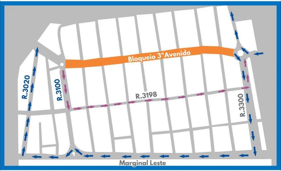 Trânsito na Terceira Avenida sofrerá interdição neste sábado