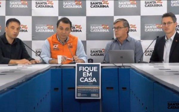 De malas prontas governador Carlos Moisés vem hoje a Balneário Camboriú