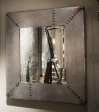 Industrial Metal Riveted Mirror - Cambrewood
