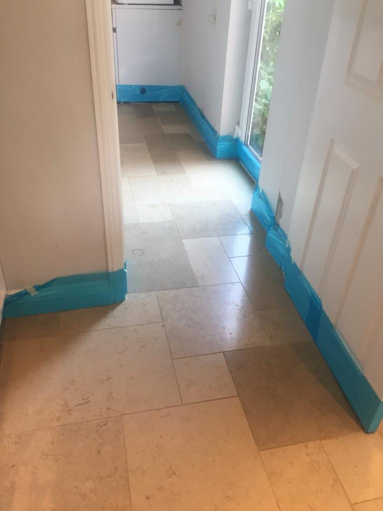 Limestone Tiled Utility Before Polishing Boxworth