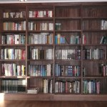 Bookcase with dental pattern