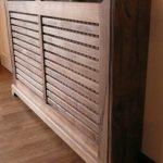 Bespoke hand-crafted Walnut radiator cover