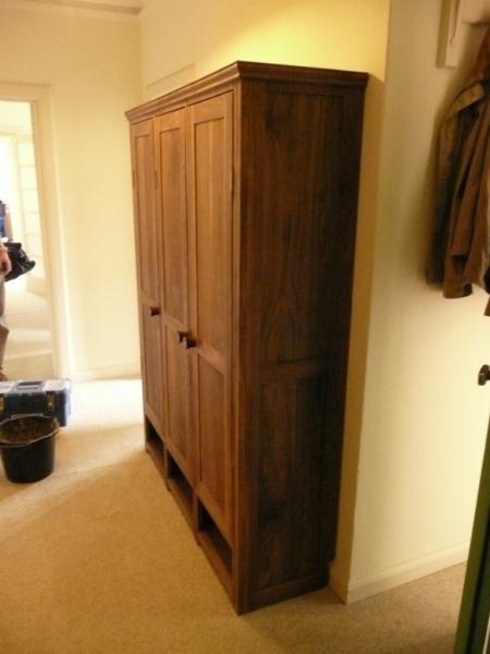 Shoe Cabinet in American Black Walnut
