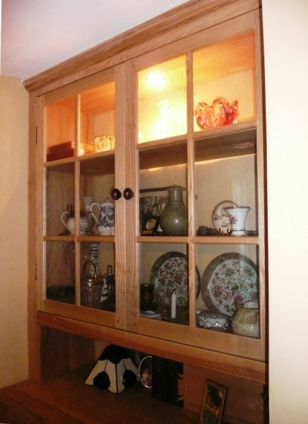 Ash Cabinet with glazed doors