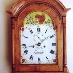 grandgather clock case in english cherry and yew