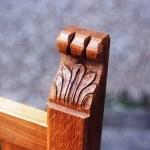 carving detail onoak ecclesiastical chair