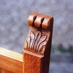 carving detail onoak ecclesiastical chair