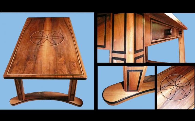 English walnut coffee table