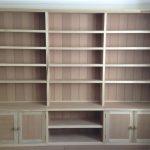 Unpainted Bookcase with interlocking modules