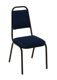 Dining Chair Stacking (indoor) - Navy Blue Upholstered ...