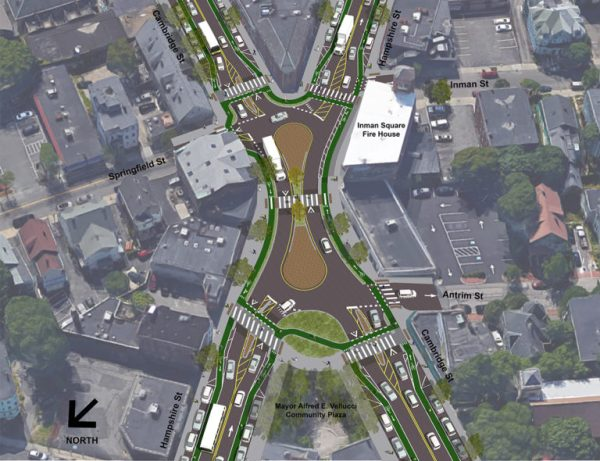 """Peanut Roundabout"" concept for Inman Square"