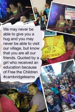 Cambridge leaders attend WE DAY at Rogers Arena on October 22 and learn to be the change they wish to see in the world.