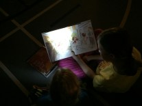 Magical...reading under the stars.