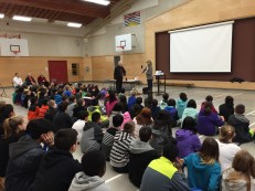 Ms. Turner welcomes author Eric Wilson