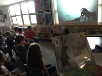 """Ms. Turner introduces a Surrey book of the year candidate by introducing """"shadows""""."""