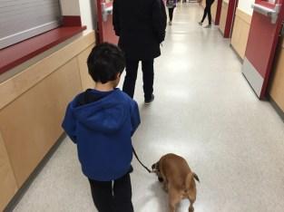 Joshan walks Pip.