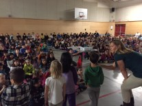 """Kindergarten students share """"The Giving Project"""""""