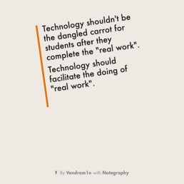 Important to remember about technology use...