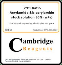 29:1 Acrylamide/Bisacrylamide (30%)
