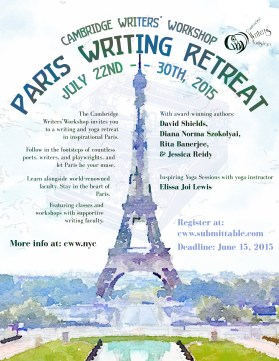 Summer in Paris Writing Retreat