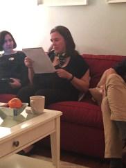 "Participant Saundra Norton reading her ""Evocative Object"" piece"