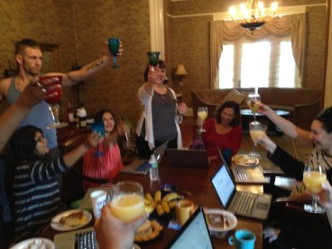 A toast to our plays!