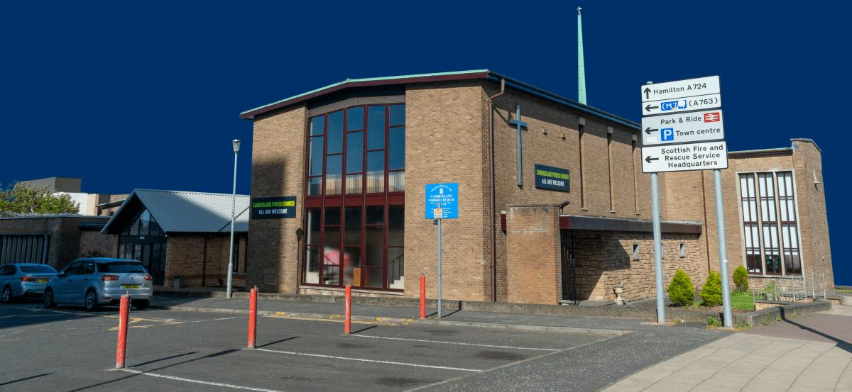An exterior shot of the main building.