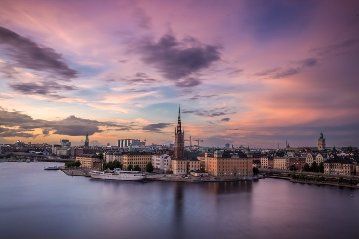 skyline of the city of stockholm, sweeden