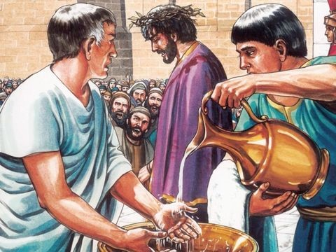 Pilate washes his hands