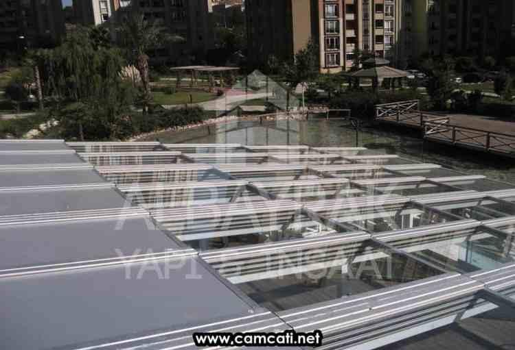acilir motorlu cam cati4 - Açılır Motorlu Cam Çatı