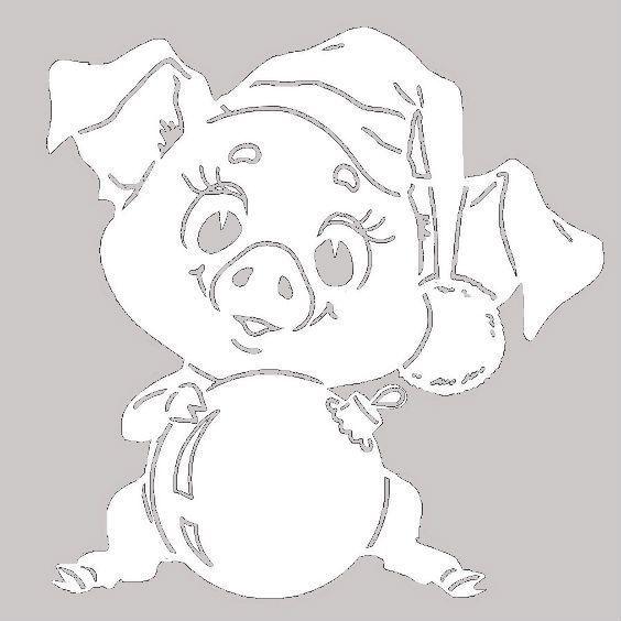 картинки на стекло к новому году свиньи считают его одним