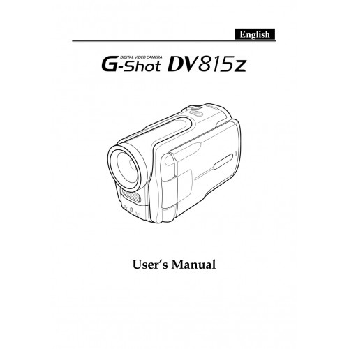 Genius G-Shot DV815Z Camcorder Manual Technical Details