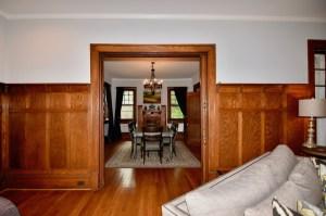 903 West End Blvd, WS, original molding and pocket doors