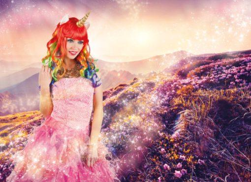 perruque Licorne multicolore