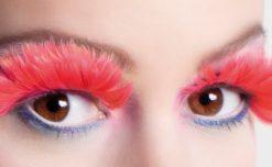 faux-cils plumes rouges