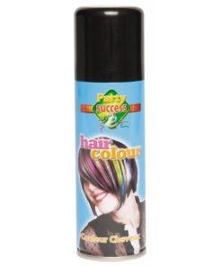 bombe laque cheveux noire