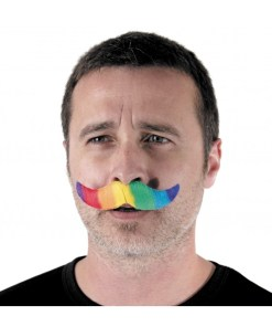 moustaches rainbow